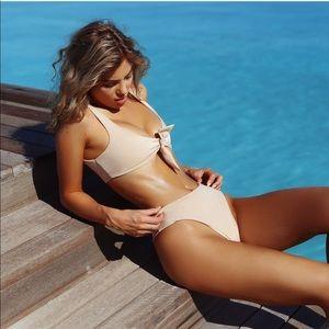 TJ SWIM blush pink high leg bikini bottoms